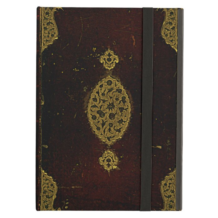 Vintage Book Cover For Ipad Air : Old leather and gold brown original book cover ipad air