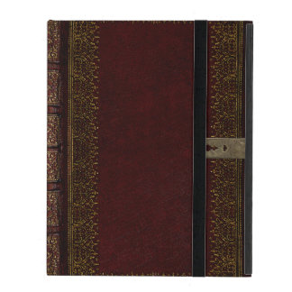 Old Leather And Lock Gilded Book Cover