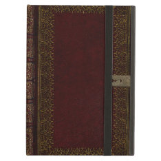 Old Leather And Lock Gilded Book Cover Cover For Ipad Air at Zazzle