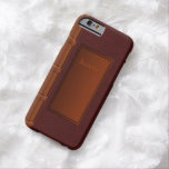 Old Leather Book Barely There iPhone 6 Case