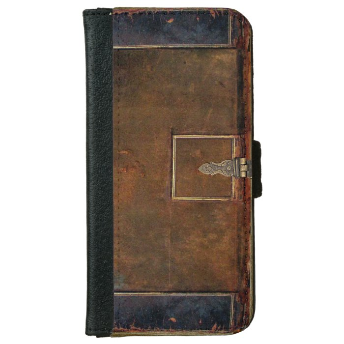 Old Leather Book Iphone Cover : Old leather book cover zazzle