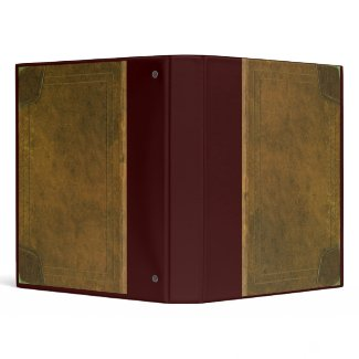 old leather book cover 3 ring binder