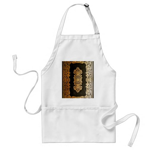Old Leather Book Cover Adult Apron