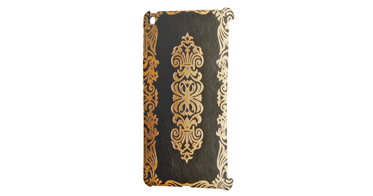 Book Cover Black And Gold ~ Old leather book cover black and gold ipad mini covers