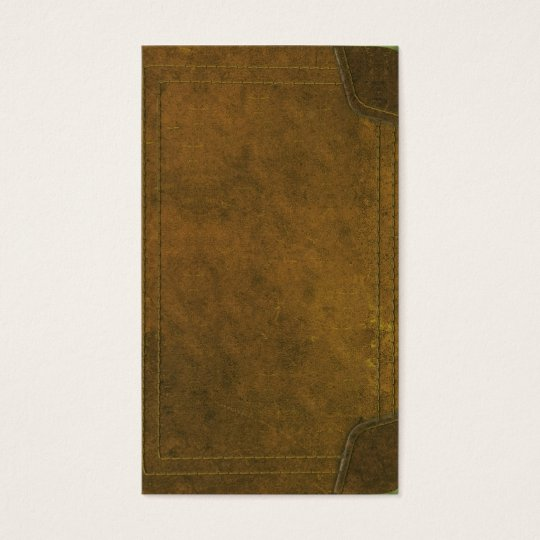 Book Cover Business Cards : Old leather book cover business card zazzle