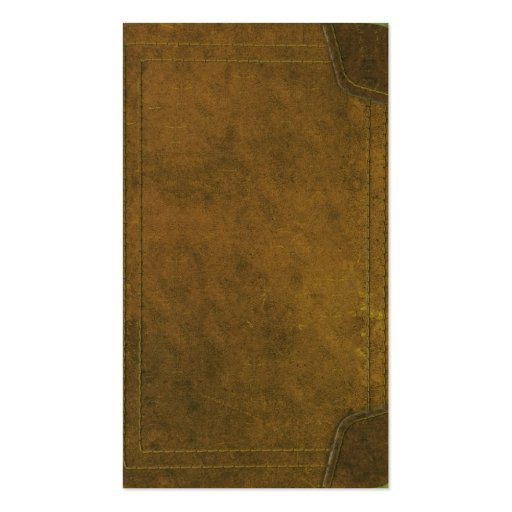 Book Cover Business Cards ~ Old leather book cover double sided standard business