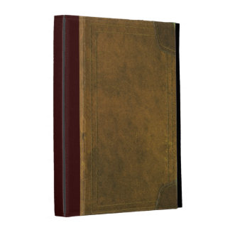 old leather book cover iPad folio covers