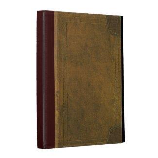old leather book cover iPad folio case