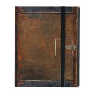 Old Leather Book Cover iPad Folio Cases