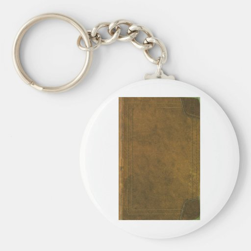 old leather book cover key chain