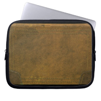 old leather book cover laptop sleeves