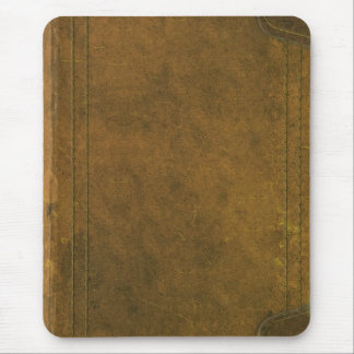 old leather book cover mouse pad