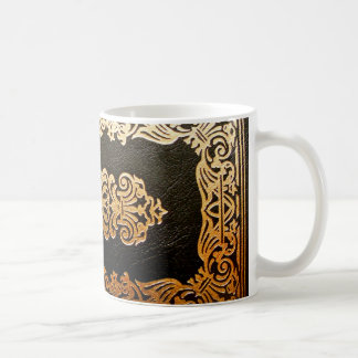 Old Leather Book Cover Classic White Coffee Mug