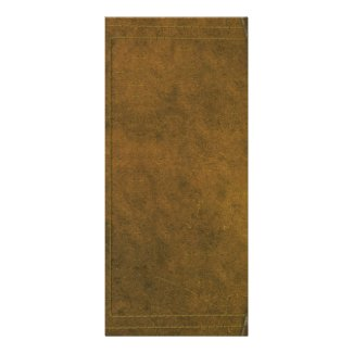 old leather book cover personalized rack card