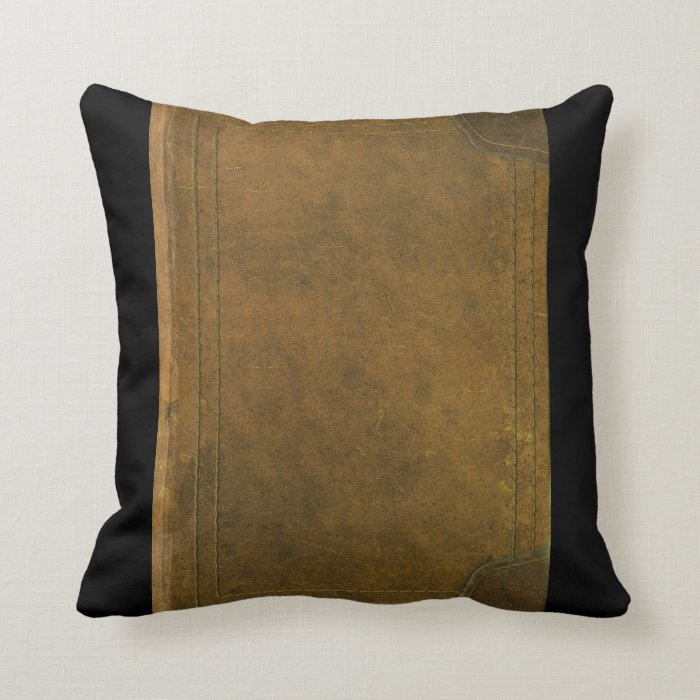 Old Book Cover Crafts : Book pillows old leather cover throw pillow zazzle