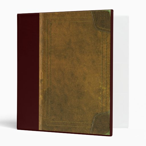 old leather book cover vinyl binders | Zazzle