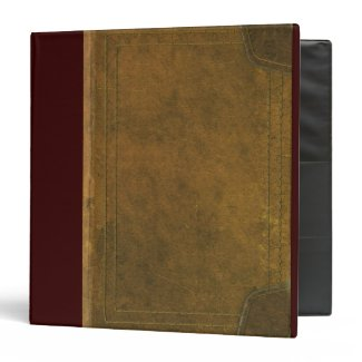 old leather book cover vinyl binders