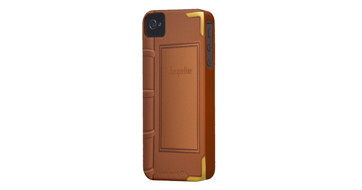 Old Leather Book Iphone Cover : Old leather book iphone cover zazzle