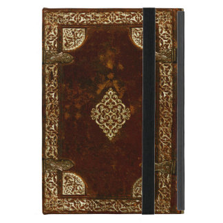 Old Leather Brass And Gilded Book Cover Cover For iPad Mini