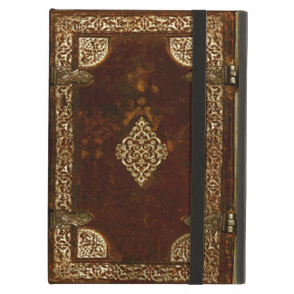 Old Leather Brass And Gilded Book Cover iPad Air Cover
