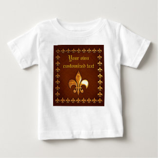 Old Leather Cover with golden Fleur-de-Lys - Baby T-Shirt