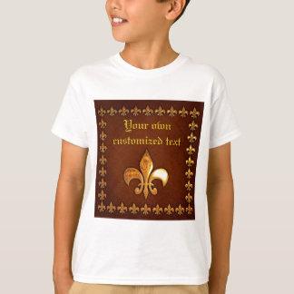 Old Leather Cover with golden Fleur-de-Lys - T-Shirt