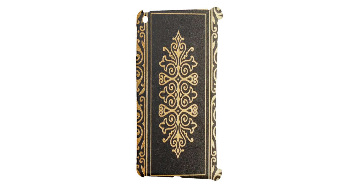 Book Cover Black And Gold ~ Old leather gilded book cover black and gold for the