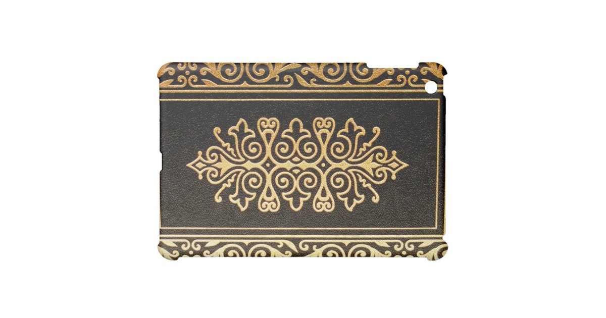 Book Cover Black And Gold : Old leather gilded book cover black and gold for the