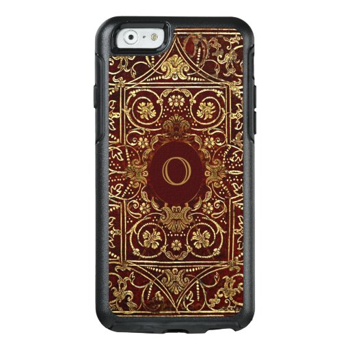 Old Book Case For Iphone : Old leather gilded book cover monogram otterbox iphone