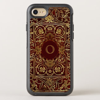 Old Leather Gilded Book Cover Monogram OtterBox Symmetry iPhone 7 Case