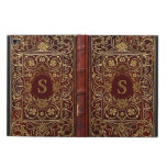 Old Leather Gilded Book Cover Monogram Powis iPad Air 2 Case