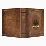 Old Leather Look Family Tree Genealogy Vinyl Binder
