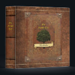 "Old Leather Look Family Tree Genealogy Binder<br><div class=""desc"">Please insert your name on the front banner. Let me know if it doesn't fit. If you want to add an individual name,  you find two different versions (#2 also has a slightly darker color) at: https://www.zazzle.com/z/3dcy7 and https://www.zazzle.com/z/3dcyz</div>"