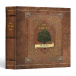 Old Leather Look Family Tree Genealogy Binder<br><div class='desc'>Please insert your name on the front banner. Let me know if it doesn&#39;t fit. If you want to add an individual name,  you find two different versions (#2 also has a slightly darker color) at: https://www.zazzle.com/z/3dcy7 and https://www.zazzle.com/z/3dcyz</div>