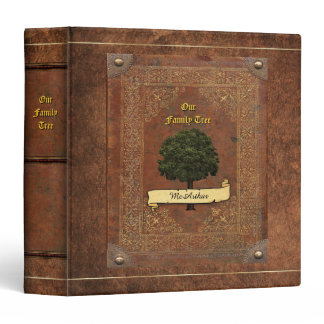 Old Leather Look Family Tree Genealogy Binder