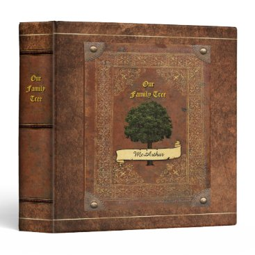 aura2000 Old Leather Look Family Tree Genealogy Binder