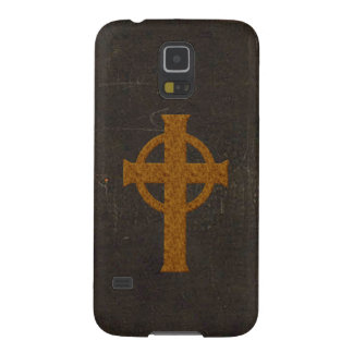 Old Leather Print Cross Case For Galaxy S5