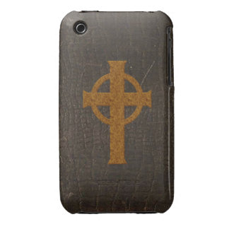 Old Leather Print Cross Case-Mate iPhone 3 Case