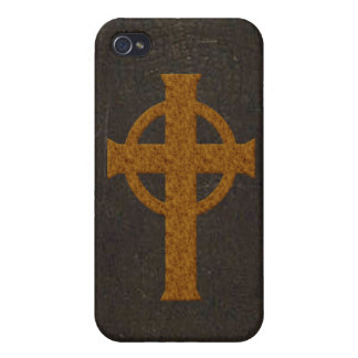 Old Leather Print Cross iPhone 4/4S Case