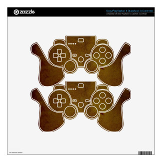 Old Leather Texture PS3 Controller Decal