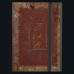 """Old Leather Victorian Style Book Cover<br><div class=""""desc"""">Personalise this authentic Victorian design old book cover by adding your own initials on both sides of the cover. Choosing a different DEVICE TYPE? Due to the intricate nature and to maintain the quality of this design, each size of iPad case must be custom fitted to the design. Therefore please...</div>"""