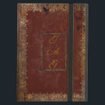 "Old Leather Victorian Style Book Cover<br><div class=""desc"">Personalise this authentic Victorian design old book cover by adding your own initials on both sides of the cover. Choosing a different DEVICE TYPE ? Due to the intricate nature and to maintain the quality of this design, each size of iPad case must be custom fitted to the design. Therefore...</div>"