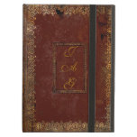 Old Leather Victorian Style Book Cover<br><div class='desc'>Personalise this authentic Victorian design old book cover by adding your own initials on both sides of the cover. Choosing a different DEVICE TYPE ? Due to the intricate nature and to maintain the quality of this design, each size of iPad case must be custom fitted to the design. Therefore...</div>