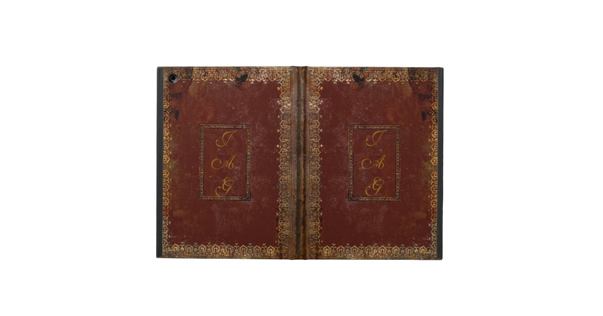 Vintage Book Cover For Ipad Air ~ Old leather victorian style book cover ipad air case zazzle