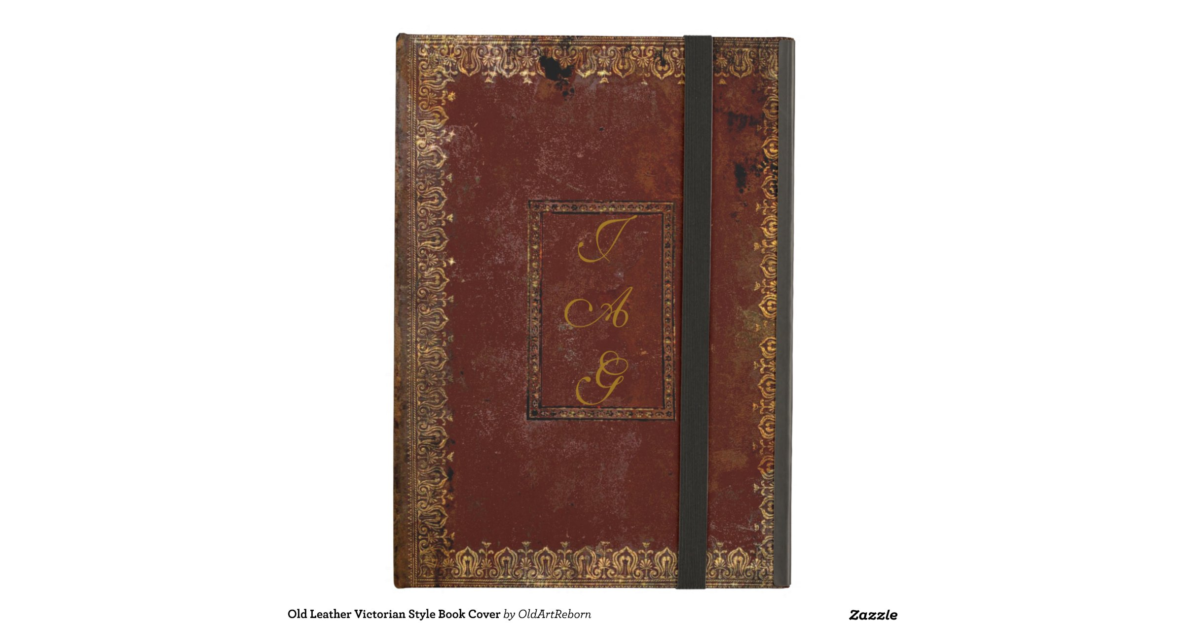 Old Book Ipad Air Cover ~ Old leather victorian style book cover ipad air case zazzle
