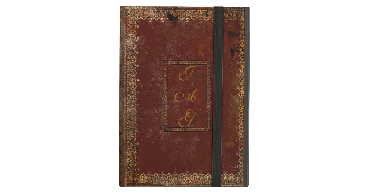 Old Book Cover Ipad : Old leather victorian style book cover ipad air case zazzle