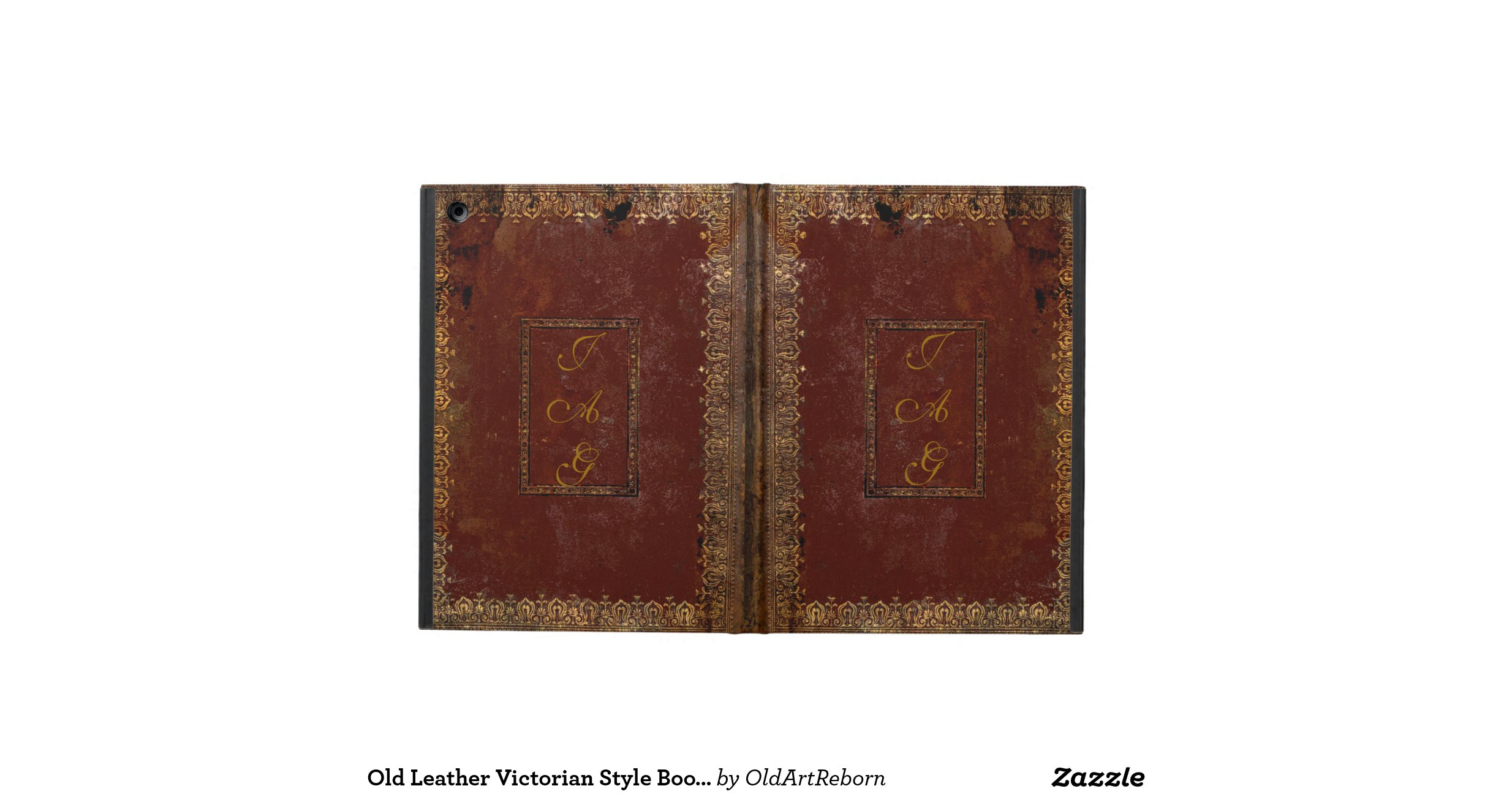Old Looking Book Cover : Old leather victorian style book cover ipad case