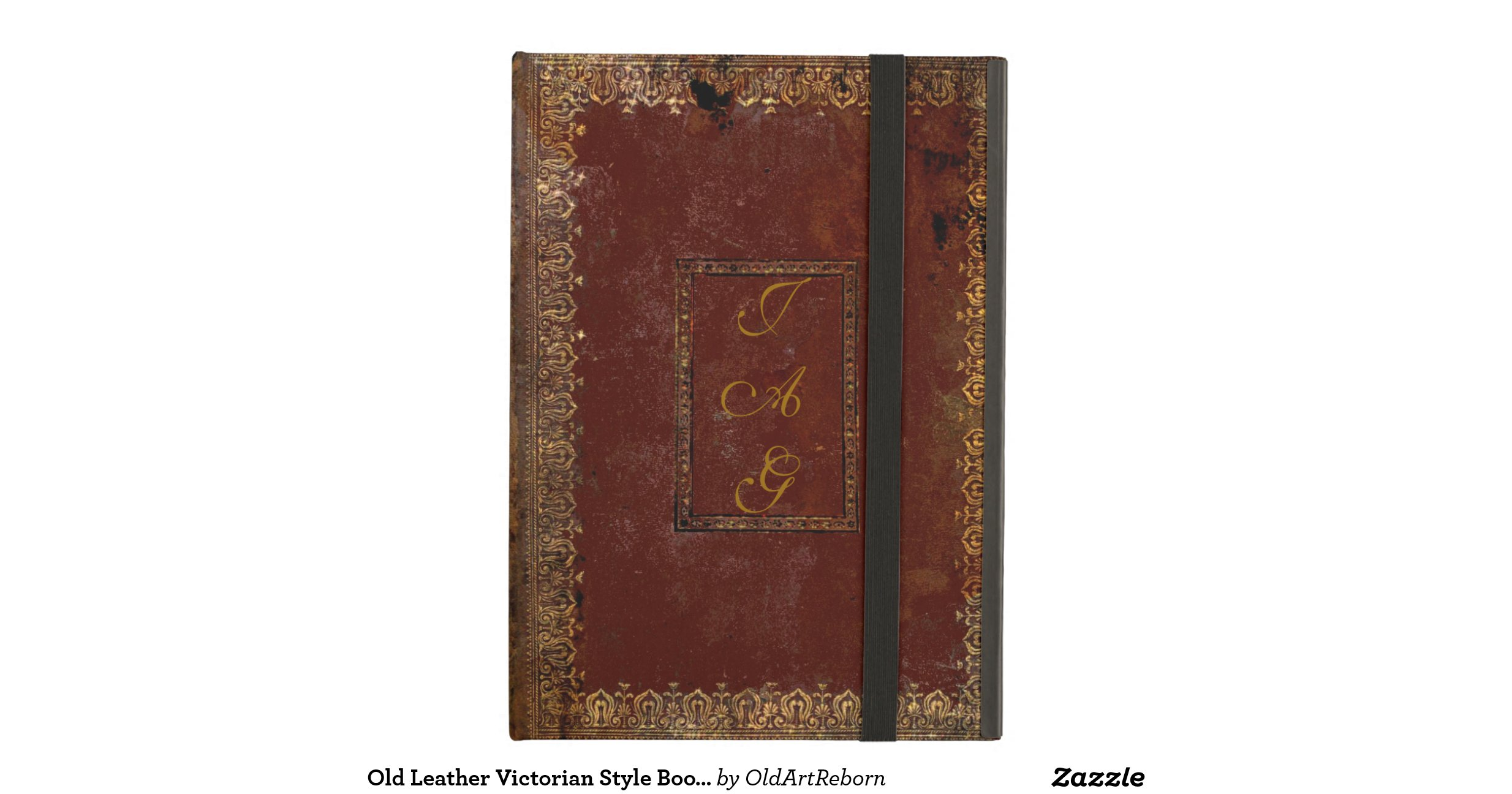 Old Looking Book Cover : Old leather victorian style book cover ipad air case zazzle
