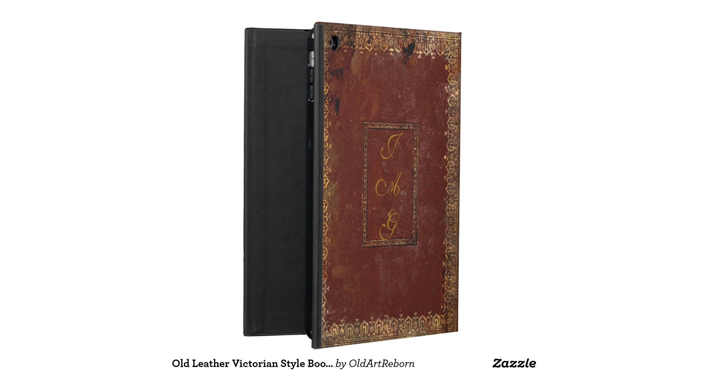 Old Book Cover Ipad : Old leather victorian style book cover ipad case