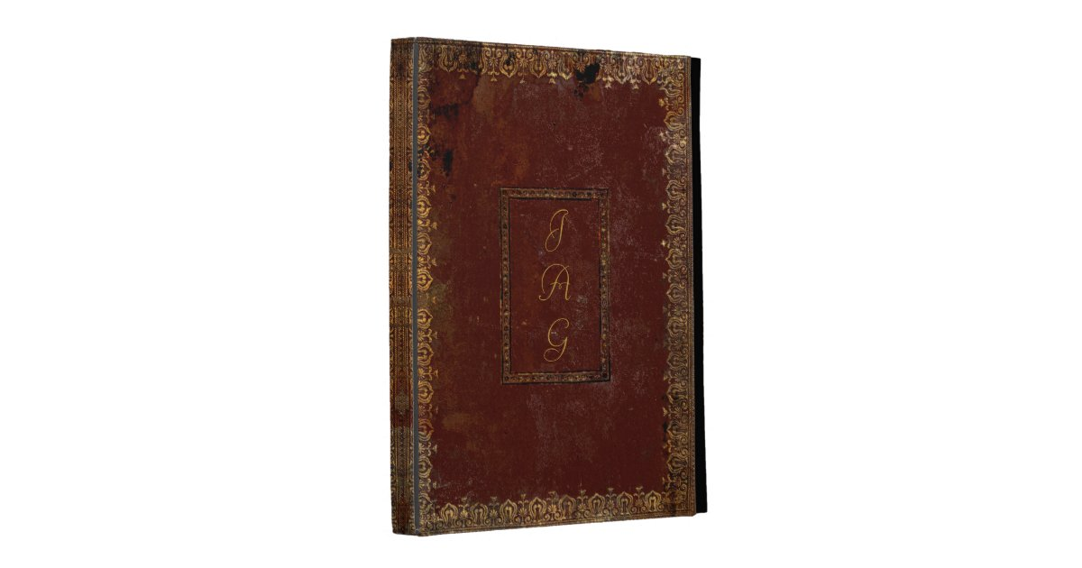 Old Book Cover Ipad : Old leather victorian style book cover ipad cases zazzle